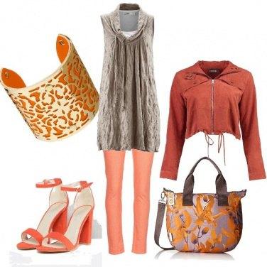 Outfit Sfumature di arancio