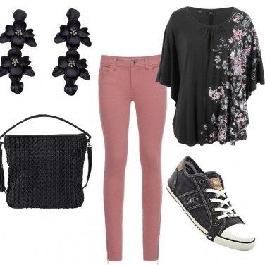 Outfit Toni rosa antico