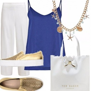 Outfit Snorkel blue bianco e oro