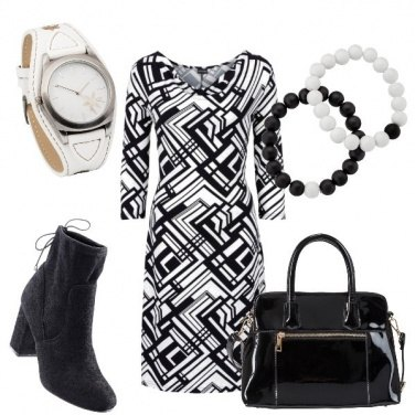 Outfit Geometrie in due colori