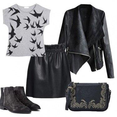 Outfit Pelle rock