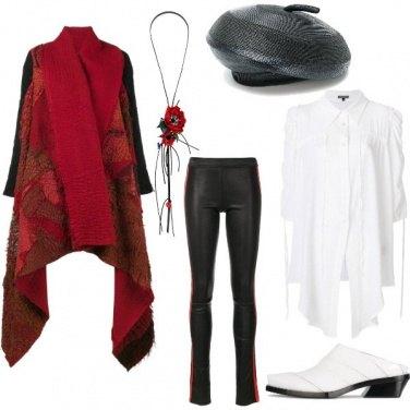 Outfit Rosso parigino