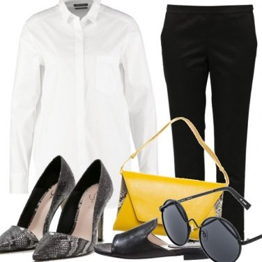 Outfit White shirt: night & day