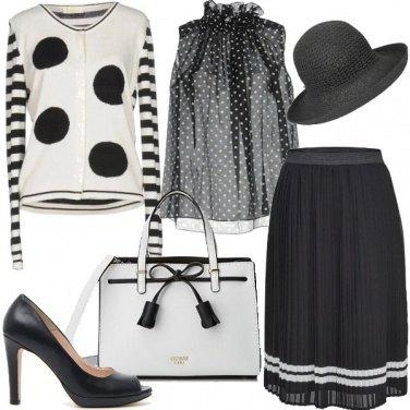 Outfit Bon ton a pois