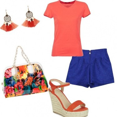 Outfit Blue orange