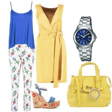 Outfit Blu e limone