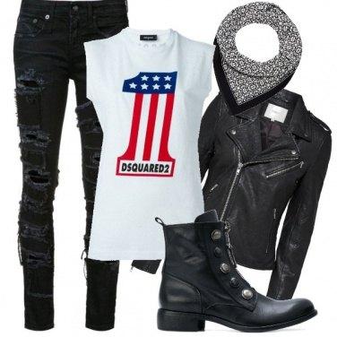 Outfit Giro in moto