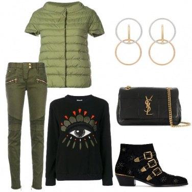 Outfit Il piumino verde
