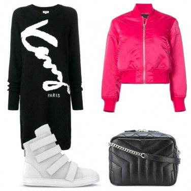 Outfit Il bomber jacket rosa