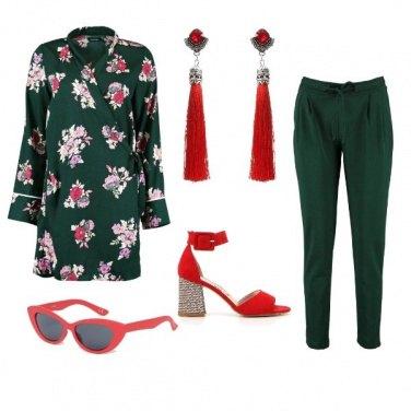 Outfit Orecchini rossi a primavera