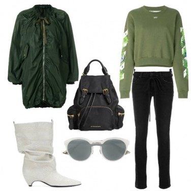 Outfit Gli stivali bianchi