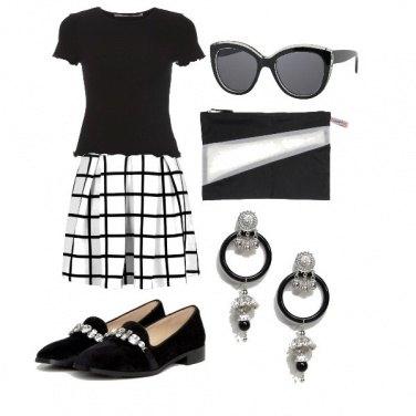 Outfit Blanc et noir