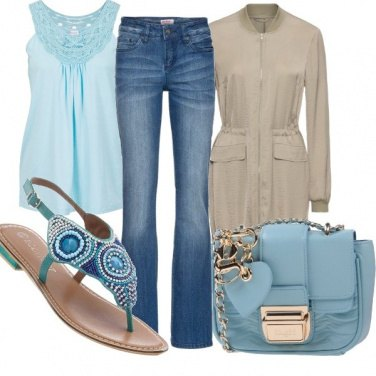 Outfit Turchese chic