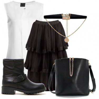 Outfit Rock black&white
