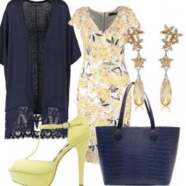 Outfit Giallo e blu