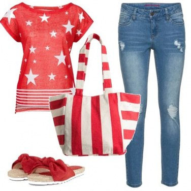 Outfit Mix&match rosso/bianco
