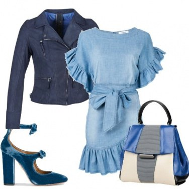 Outfit Jeans e ruches