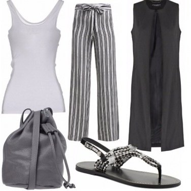 Outfit Grigio&bianco
