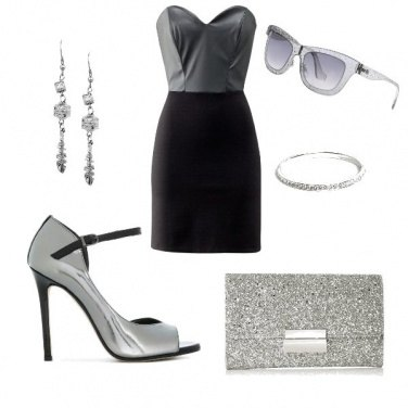 Outfit Chic argento