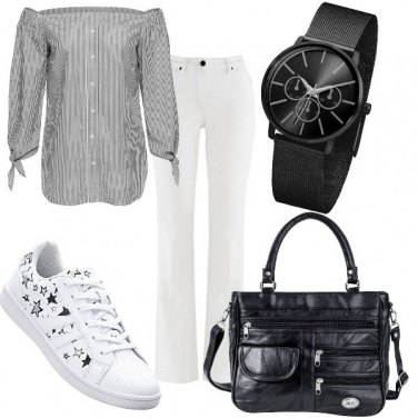 Outfit Stelle sulle sneakers