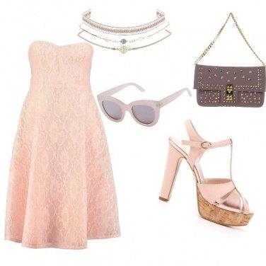 Outfit Elegante cipria