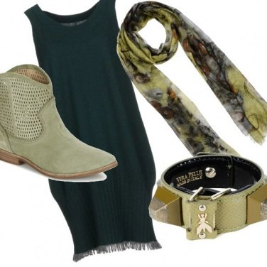 Outfit Verde a contrasto#