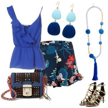 Outfit Short a fiori