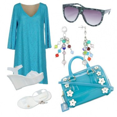 Outfit Azzurro oltremare