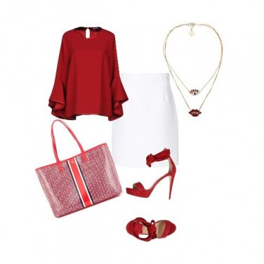 Outfit Red office
