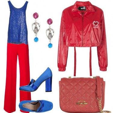 Outfit Blue e rosso