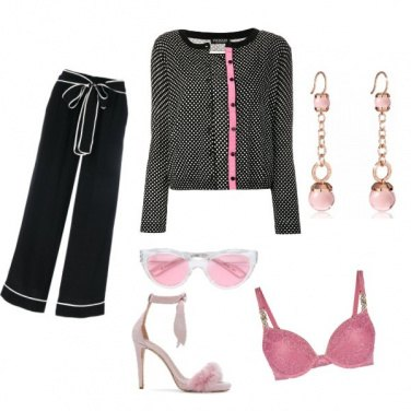 Outfit Dettagli rosa