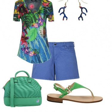 Outfit Blue&Green