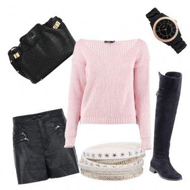 Outfit Pantaloncini neri