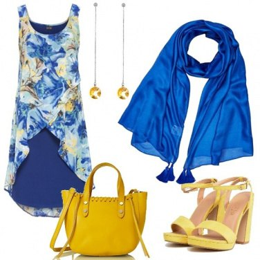 Outfit #ElettricBlue&Yellow