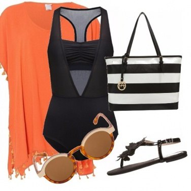 Outfit Orange black