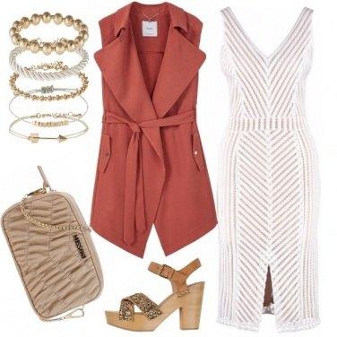 Outfit Gilet lungo per serata elegante
