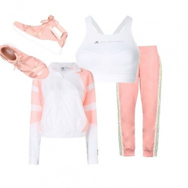 Outfit Sport in rosa