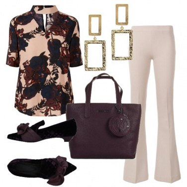 Outfit Blusa con choker