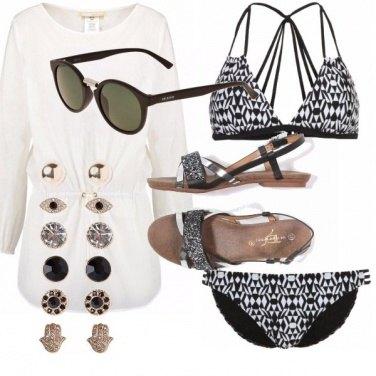 Outfit Il fascino del bianco e nero