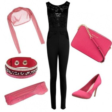Outfit Black & Pink