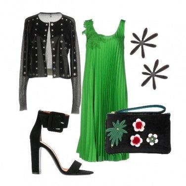 Outfit L abito verde