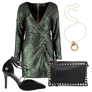 Outfit Sexy in verde