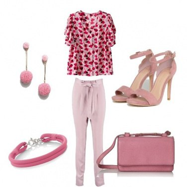Outfit Nel rosa dipinto di rosa