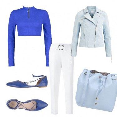 Outfit Blu sfumato