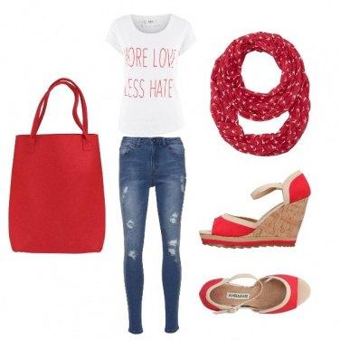 Outfit Rosso primavera