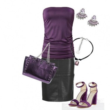 Outfit Intrigante in viola