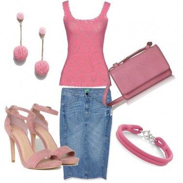 Outfit Denim e rosa