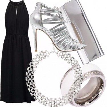 Outfit Discoteca nera e silver