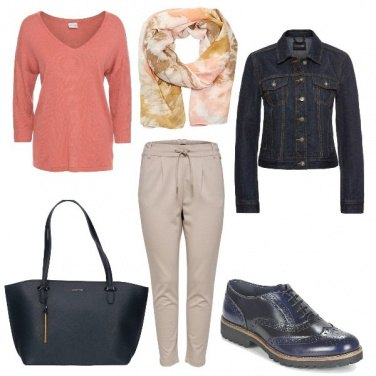 Outfit Rosa polvere
