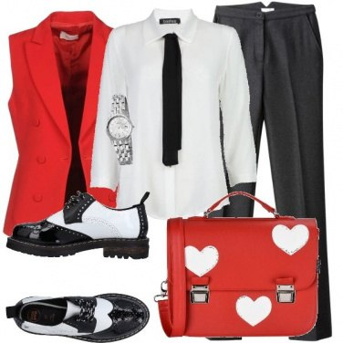 Outfit Mannish col cuore